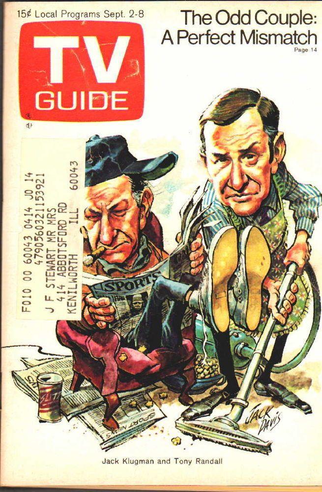 TV GUIDE 9-2-1972 Odd Couple~Liza Minelli~Tv 1st 25 years~David Niven~Chicago Ed