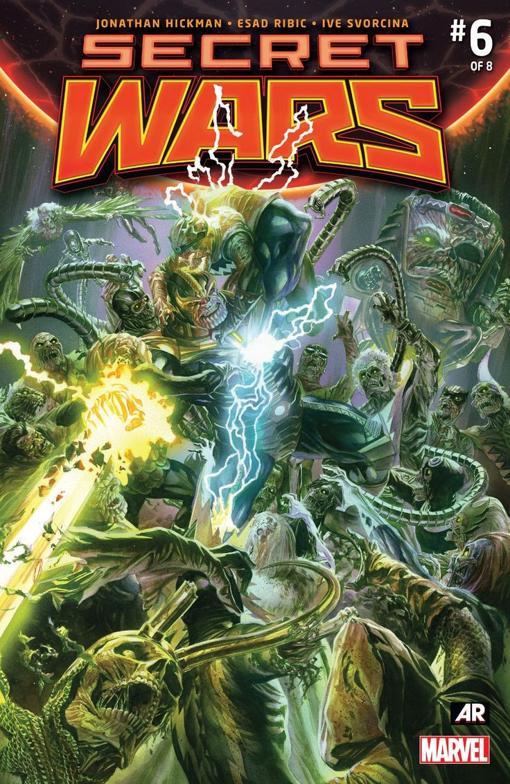 The cover to Secret Wars #6 (2015), art by Alex Ross