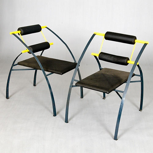 Set of four chairs by mario botta italy late 1980s or for 1980s chair design