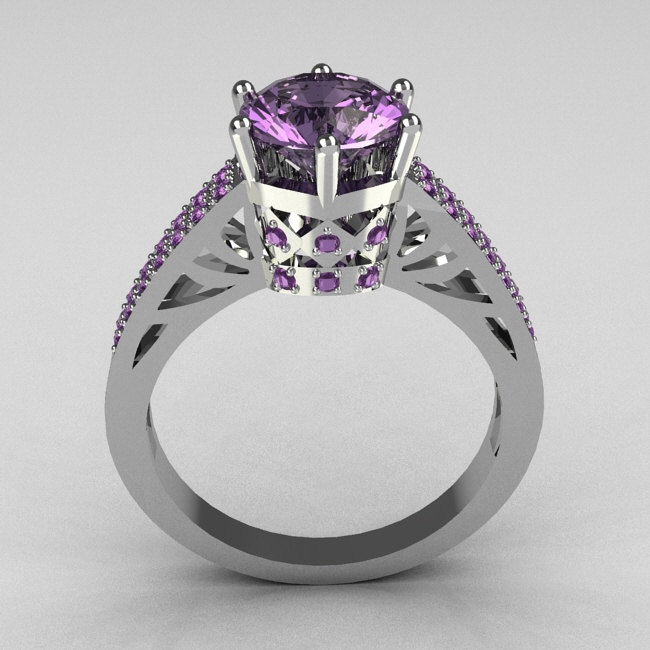 amethyst, I would truly love this as a wedding ring!! It's beautiful! And my birth stone too!