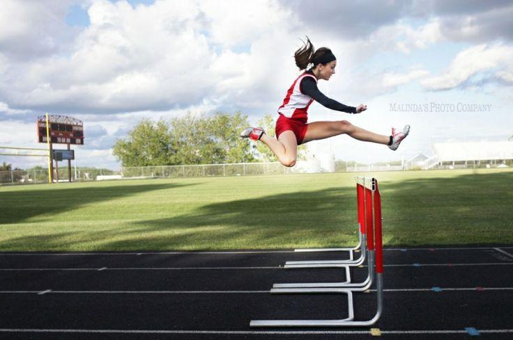 Senior pictures sports, track