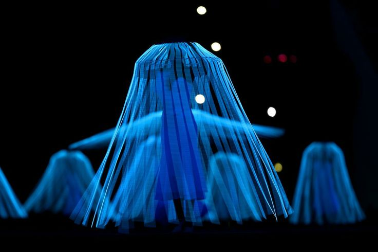 Dancers perform Dove of Peace during the Opening Ceremony of the Sochi 2014 Winter Olympics at Fisht Olympic Stadium on February 7, 2014 in ...