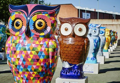 Owls from The Big Hoot Event, Birmingham