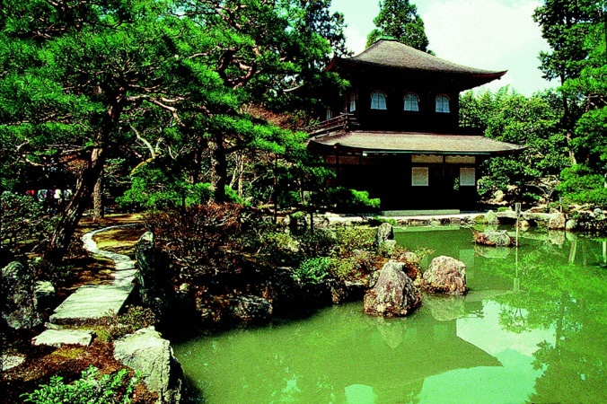 Templo Ginkakuji ou Pavilhão de Prata, em Quioto.