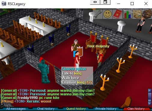It's Presidents Day in the USA. So, why don't you get your butt down to the Varrock castle and pay your respect to the KING OF RUNESCAPE!