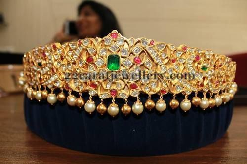 Jewellery Designs: Kundan Work Baby Waistbelt