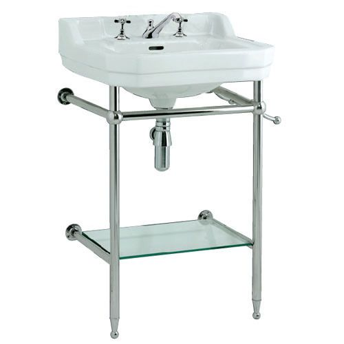 Edwardian 610 basin with stand - 3 tap holes