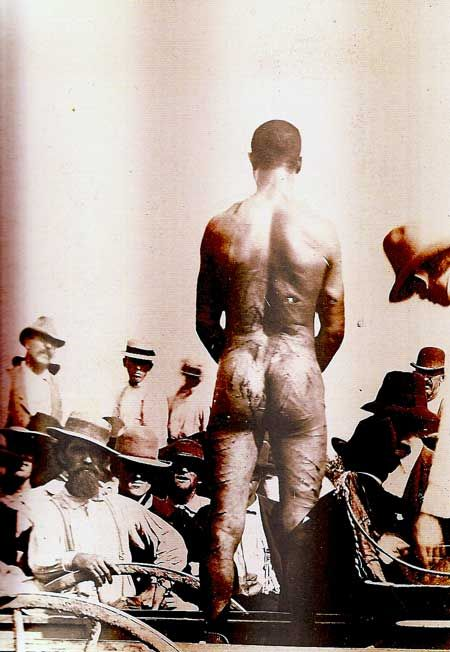 slave at slave auction, hard to even imagine...