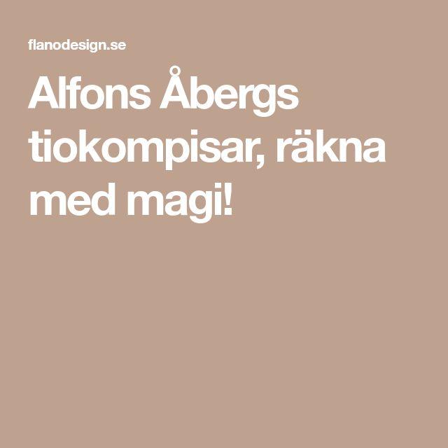 Alfons Åbergs tiokompisar, räkna med magi!