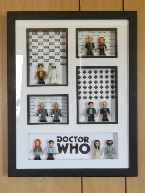 a cheap frame and some minifigs and voila a very cool doctor who shadow box - Dr Who Bedroom Ideas