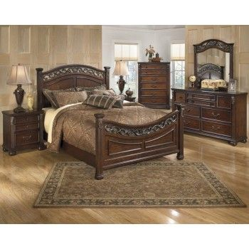 Bedroom   Dresser, Mirror U0026 Queen Panel Bed By Signature Design By Ashley.  Get Your Leahlyn 5 Pc. Bedroom   Dresser, Mirror U0026 Queen Panel Bed At  Furniture ...