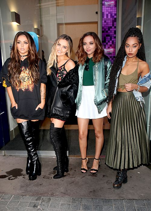 """littlesmixs: """" Little Mix arrive at the BBC Radio One studios in London on October 17th, 2016. """""""