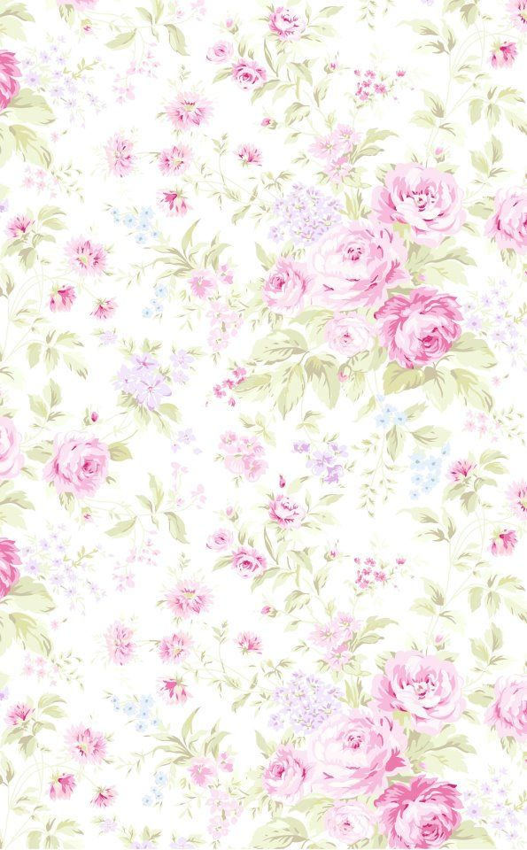 "A print from ""Treasures"" by Shabby Chic Garden Rose Collection"