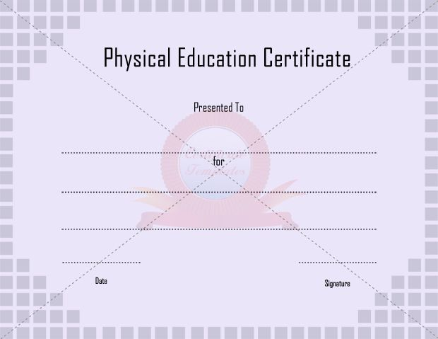 9 best PHYSICAL EDUCATION TEMPLATE images on Pinterest - soccer certificate template