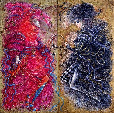 "Artist Elvira Baranova; Painting, ""Key keeper""."