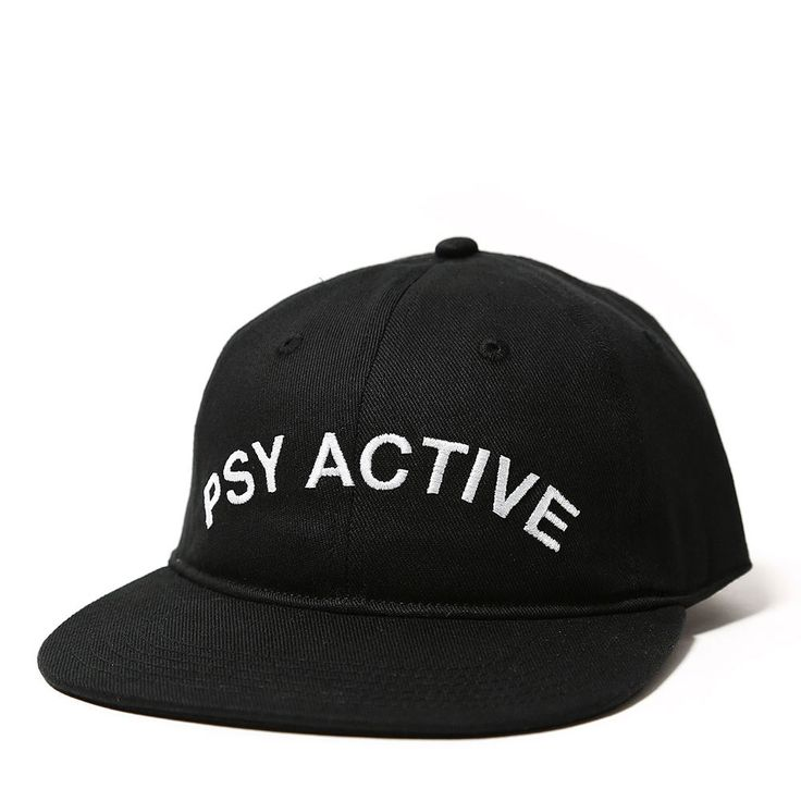 PSY-ACTIVE CAP BLACK