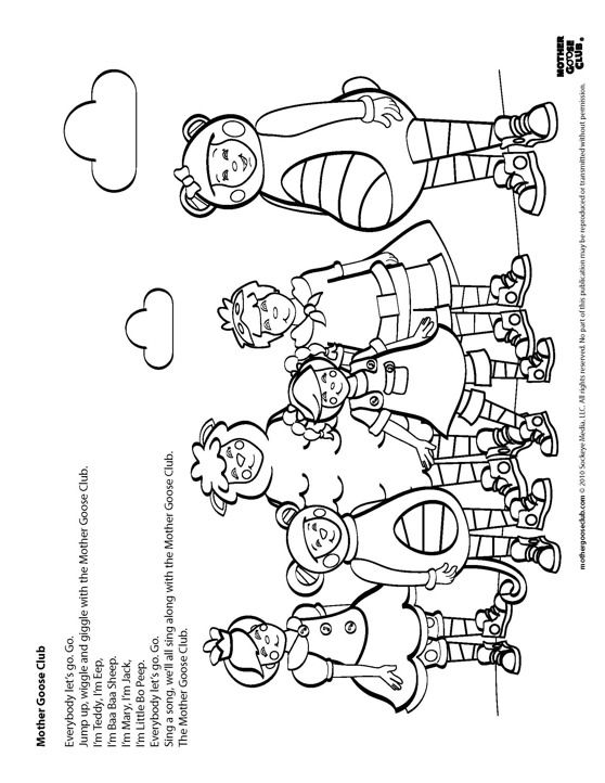 Coloring Pages Mother Goose Club