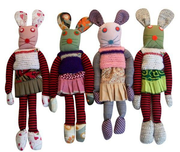 Support Hillcrest Aids Centre trust (non-profit organisation) by buying one of these gorgeous handmade rabbits!