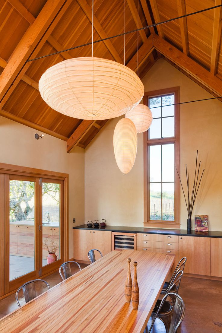 82 best tables images on pinterest furniture ideas projects and with exposed fir framing and clay plastered walls the spacious dining room is the new social focus of the house the custom dining table was created from