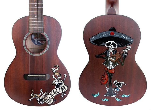 Day of the Dead Art -- Ukulele Commission by David Lozeau by David Lozeau, via Flickr