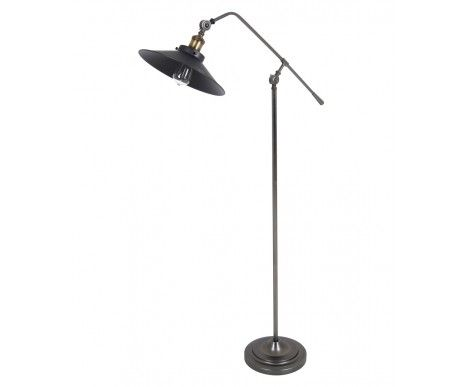 Beacon Lighting Manor 1 Light Floor Lamp in Aged Steel