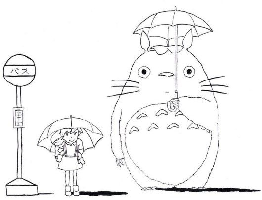 My Neighbor Totoro Tonari No Totoro Coloring Picture Totoro