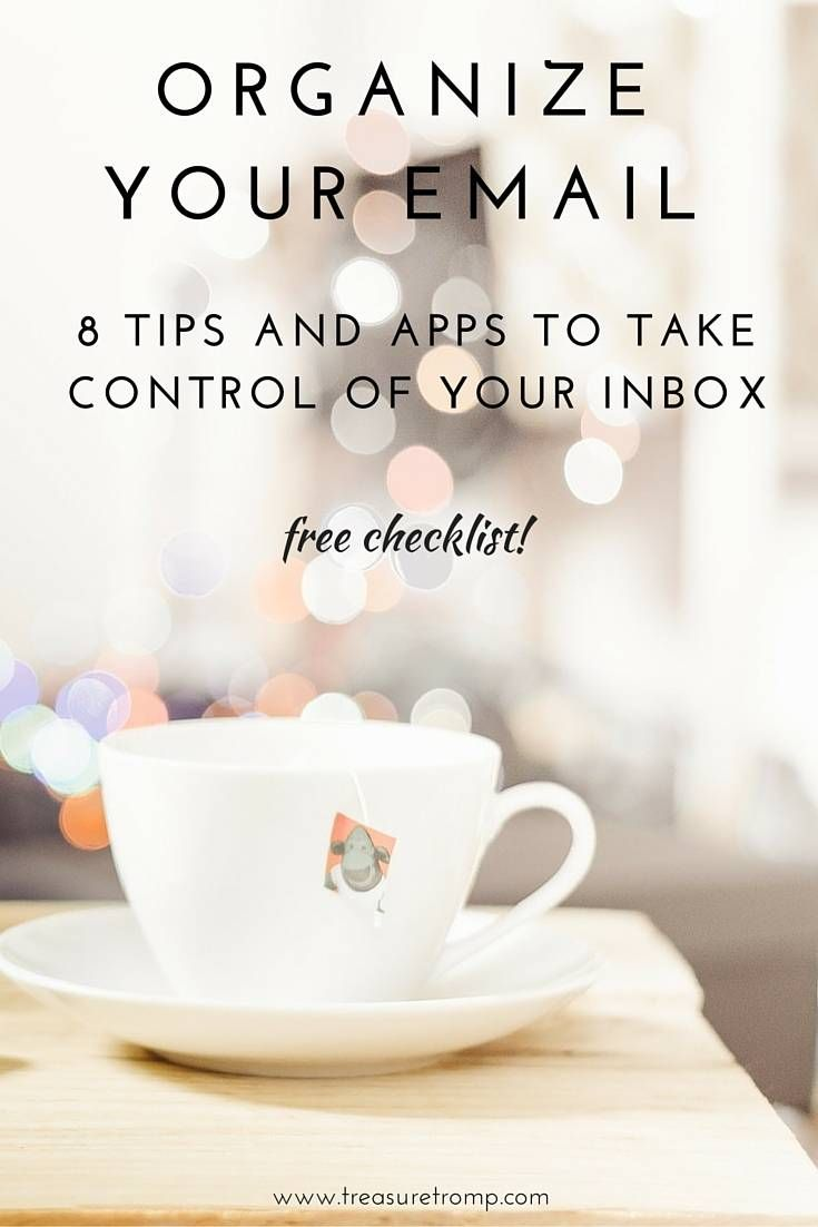 8 Tips to Organize Email & Take Control of Your Inbox | productivity hacks for your inbox