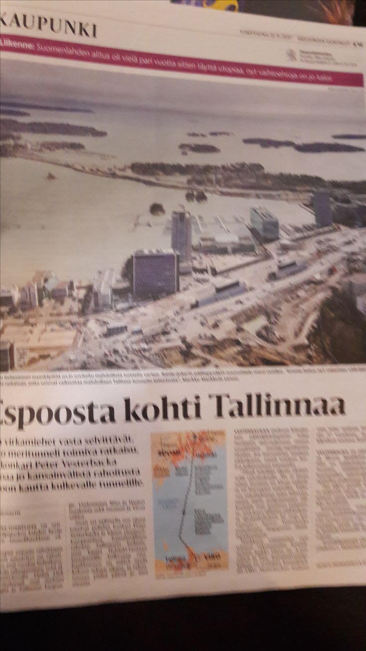 Työmatka jatkossa Tallinnasta Helsinkiin?