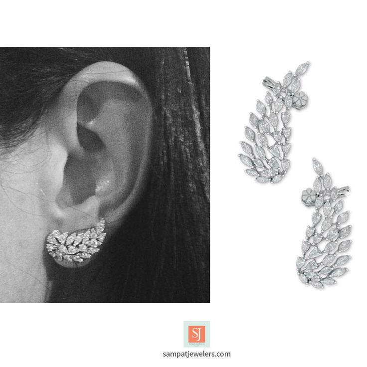 Ear Crawlers, Ear Jackets in 18k Gold and diamonds