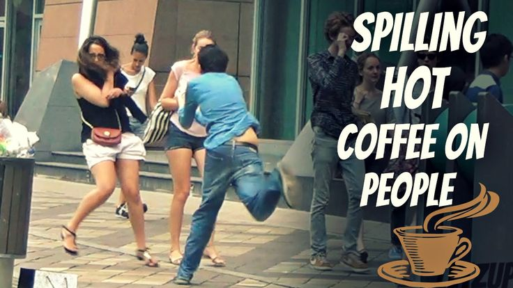 Spilling hot #coffee on people prank! Too funny!