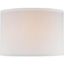 """Lite Source Drum Lamp Shade in Off White Size: 14"""" T x 14"""" B x 10"""" H"""