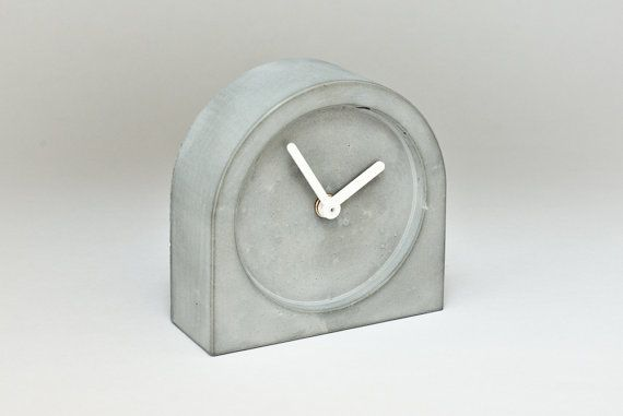 Concrete clock 1355 minimalist clock for a modern by ConcreteClock