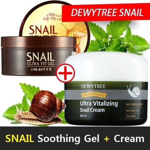 DEWYTREE ULTRA VITALIZING Snail Cream 80ml Wrinkle Skin Care + Ultra Fit Gel  #DEWYTREE
