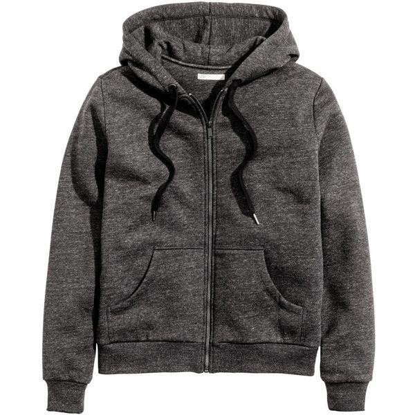 Hooded jacket $39.99 ($40) ❤ liked on Polyvore featuring tops, hoodies, zip hoodies, h&m tops, zipper top, mint green top and h&m hoodies