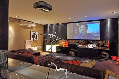 Decor Salteado - Blog de Decoração | Construção | Arquitetura | Paisagismo: Home Theater – veja 30 salas decoradas, mais dicas e tendências!