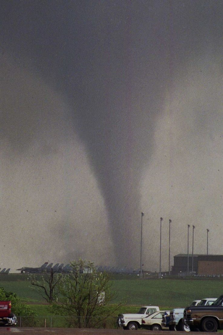 McConnell Air Force Base Tornado, Kansas, 1991 - I remember standing in our street watching it from across town.