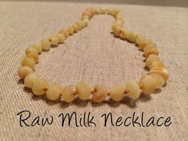 Baby Baltic Amber Necklace - Baltic Amber Teething Necklace Raw Milk Newborn…
