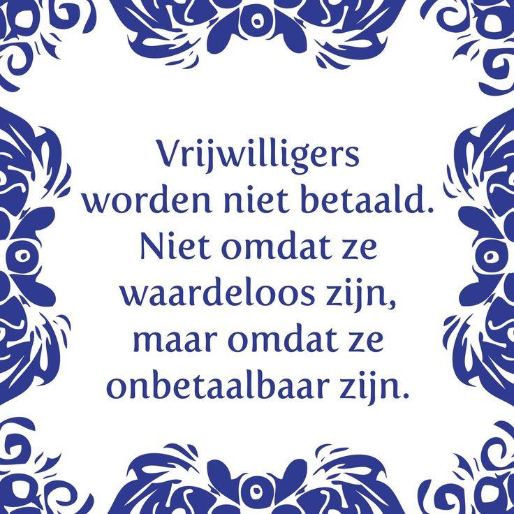 Tegeltjeswijsheid.nl - een uniek presentje - Vrijwilligers