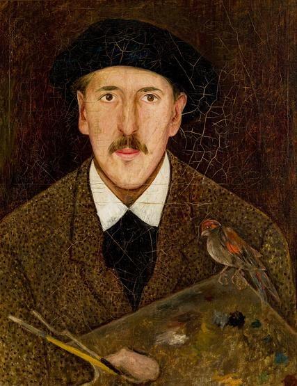 Tadeusz Makowski, Autoportret, 1919 #artist #selfportrait