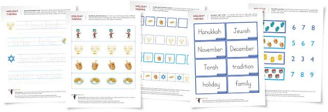 Teaching Blog Addict: FREE Hanukkah worksheets!