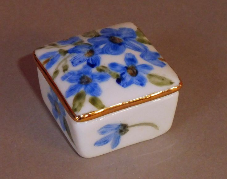 Tiny Blue Tooth Fairy Box by Chinapainter1 on Etsy
