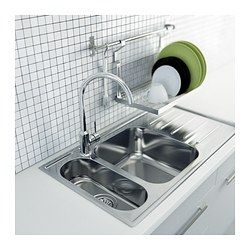 Hang over the sink's drain board as dual dish drying + storage. GRUNDTAL Dish drainer - IKEA