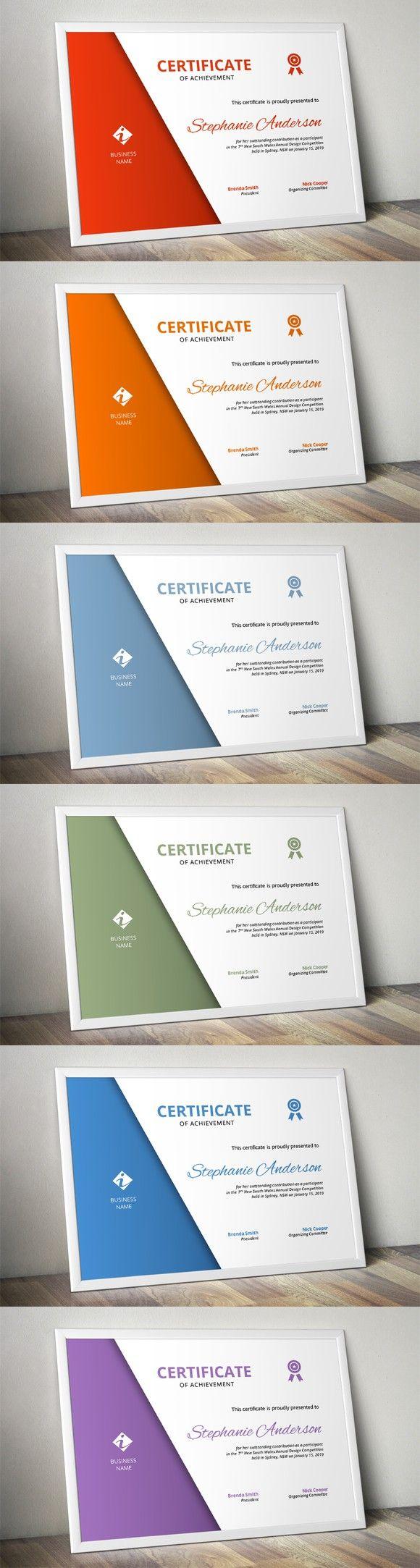 25 best ideas about Certificate Templates – Corporate Certificate Template