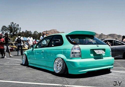 Honda Civic Ek Wit Camber Them Jdm Hella Flush Cars