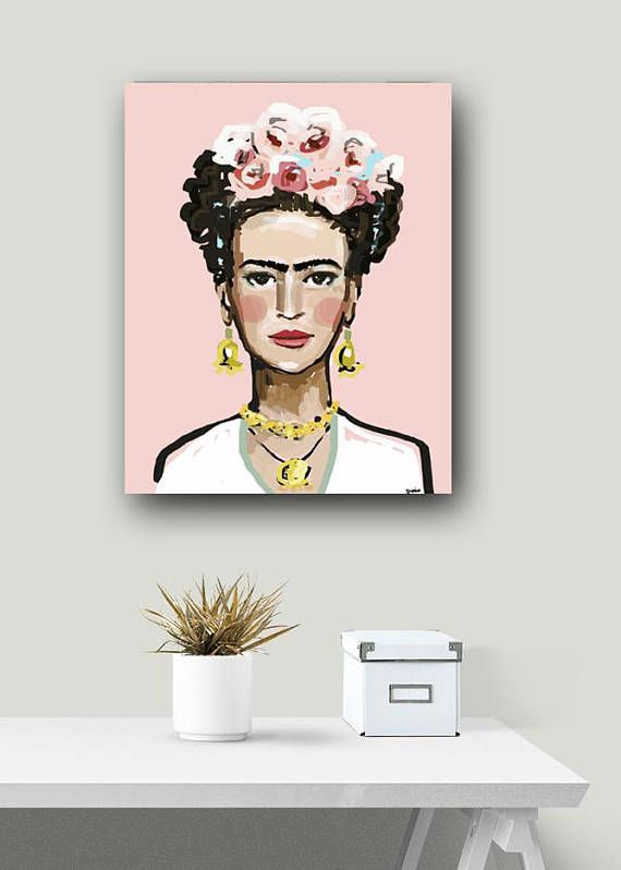 Modern Portrait Art Print on Paper or Canvas