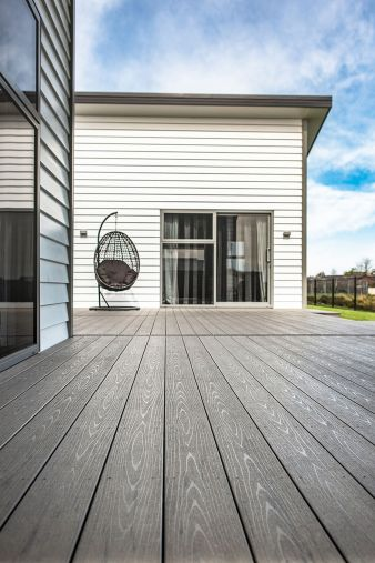 Timber with composite decking  #Niagara #Envira #Timber #Ashburton #Invercargill #Southland #Weatherboards #Cladding #Bevelback #Rusticated #Linea #Wooden weatherboards #Fullyspecified #Fascia #Laminated posts #Scribers #Windowsills #Mouldings #Box corners #Corner soakers #Cavitybattens #Shiplap #Skirting boards #Architraves #Compositedecking #TimberTech #Splinterfree #Deckingoptions