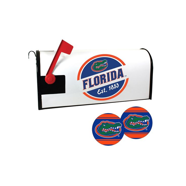 Florida Gators Magnetic Mailbox Cover & Decal Set, Multicolor