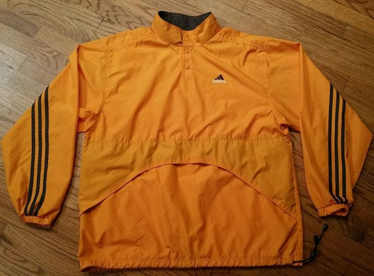 Adidas Jacket half-snap Pullover windbreaker Men Large golf running cycling/hike…