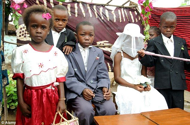Problem: Early marriage, such as this one taking place in Malawi, are the fate 14.2 million girls every year