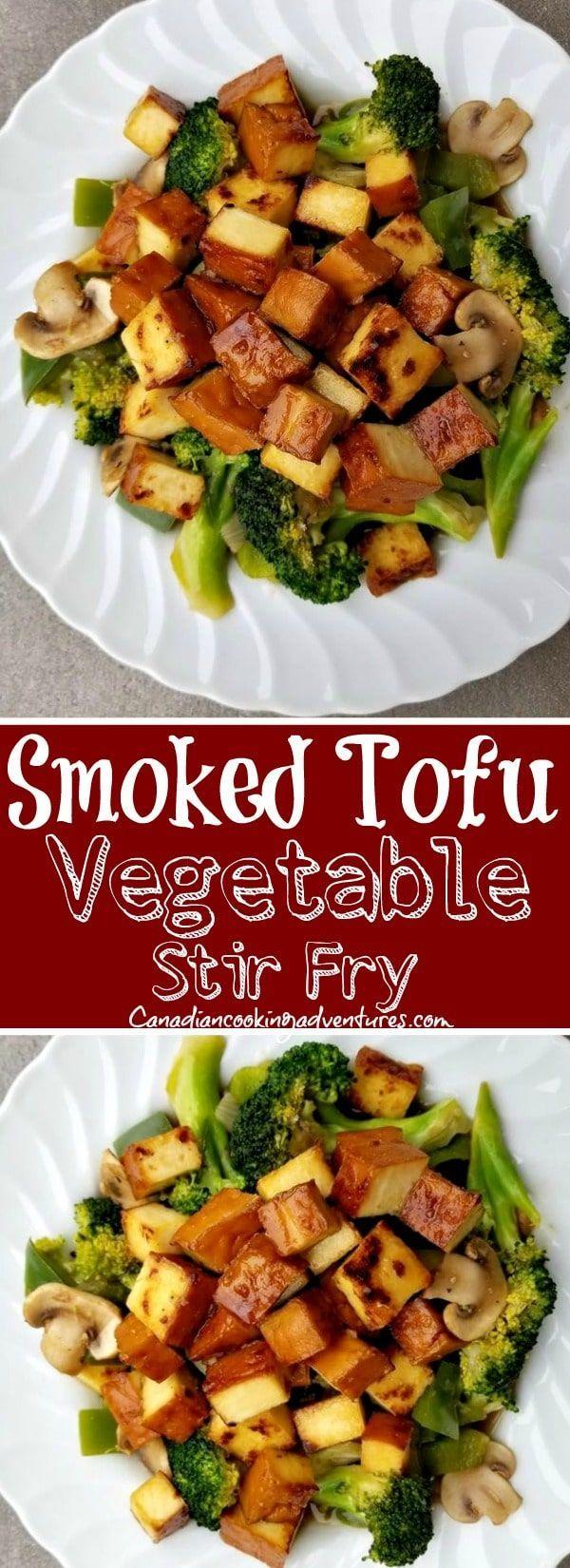 Smoked Tofu Vegetable Stir Fry Recipe Tofu Recipes Healthy Smoked Tofu Recipe Tofu Recipes